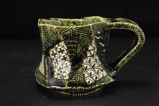 山口真人 織部琳派マグカップ [ Oribe Rinpa Mug Cup by makoto YAMAGUCHI]