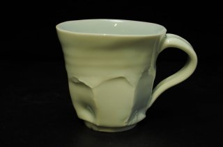 山口真人 白磁マグカップ [ Hakuji Mug Cup by makoto YAMAGUCHI]