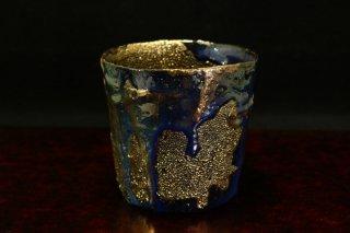 市川透 ロックグラス Au.Pt迦具土「Ra」[Glass by Toru Ichikawa]