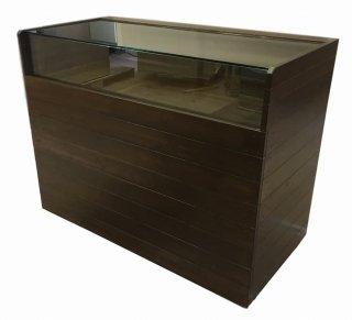 木製ガラスケース付裏開き_幅120cm×奥行60cm×高さ92cm_オールナット+ニス_C022WN