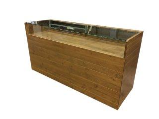 木製ガラスショーケース_幅180cm×奥行60cm×高さ92cm_オーク+ニス_C023OK