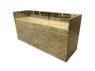 木製ガラスショーケース_幅180cm×奥行60cm×高さ92cm_シンオーク+ニス_C023TOK