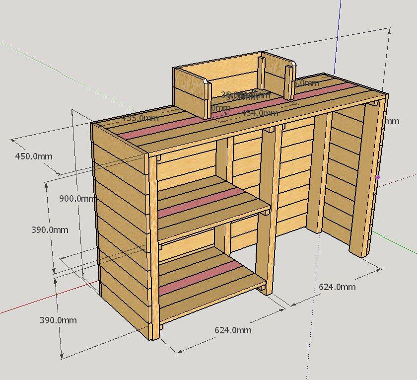 木製レジカウンター・受付カウンター_幅140cm×奥行45cm×高さ108cm_オーク_C026OK