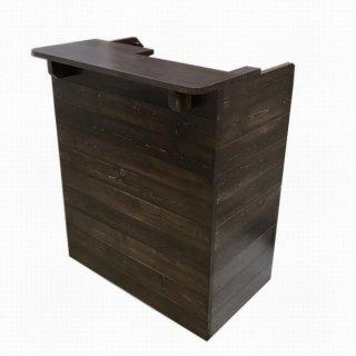 木製レジカウンター・受付カウンター_スリム_幅75cm×奥行54cm×高さ92cm_アンティークブラウン_C030AB