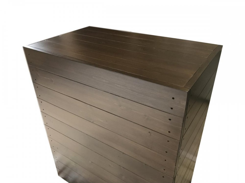木製レジカウンター・受付カウンター_スリム_幅75cm×奥行45cm×高さ90cm_オールナット+ニス_C031WN