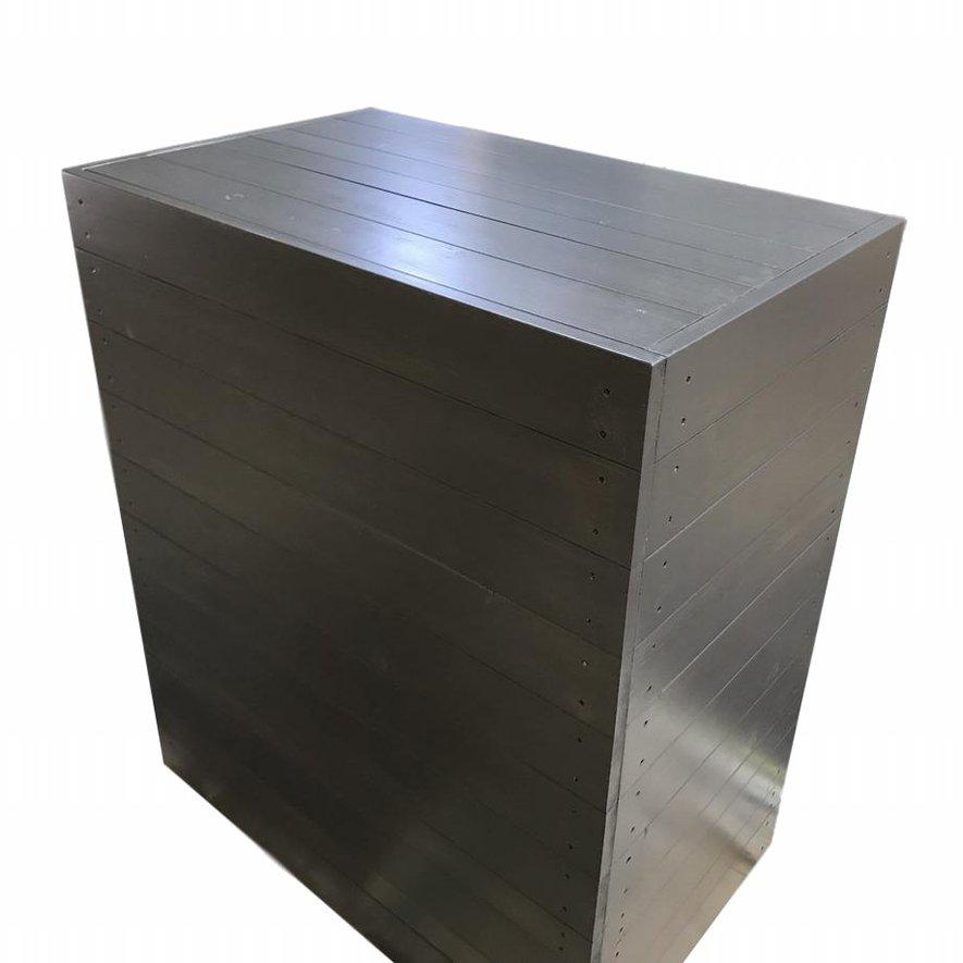 木製レジカウンター・受付カウンター_スリム_幅80cm×奥行50cm×高さ92cm_オールナット+ニス_C043WN