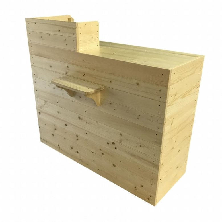 木製レジカウンター・受付カウンター_バッグ置付_幅120cm×奥行60cm×高さ108cm_クリアニス_CT4CL