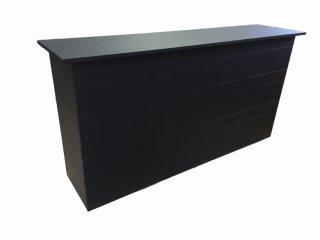 木製レジ台・カウンター_幅180cm×奥行45cm×高さ93cm_マットブラック_UN481MBK