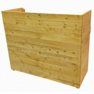 木製レジ台・カウンター・作業台_幅120cm×奥行49cm×高さ100cm_ライトオーク_UN832LOK