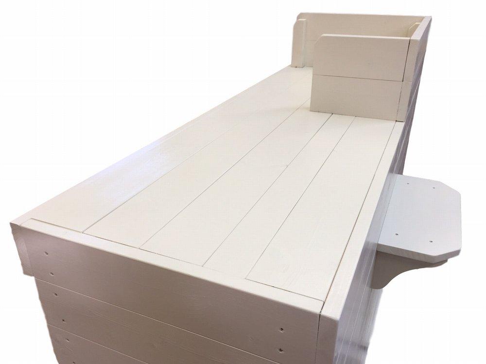 木製レジ台・カウンター_バッグ置付_幅120cm×奥行60cm×高さ108cm_ミルキーホワイト_UN812MW