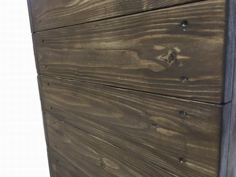 木製レジ台・カウンター_バッグ置付_幅90cm×奥行55cm×高さ92cm_オールナット_UN829WN