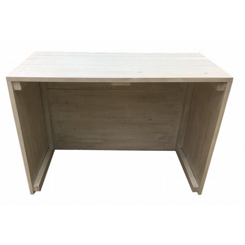 木製ディスプレイテーブル_2個セット_幅100cm×奥行45cm×高さ80cm_アンティークホワイト_UN811AWH