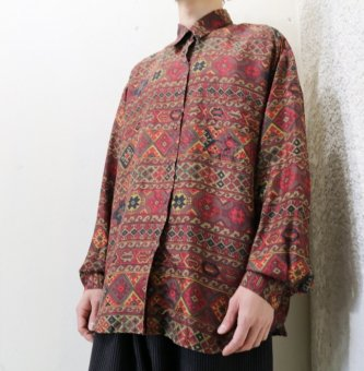 silk ethnic red