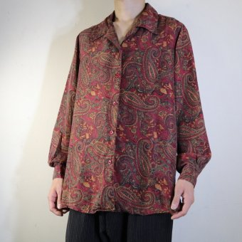 silk paisley red