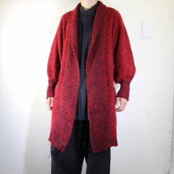 knit robe red