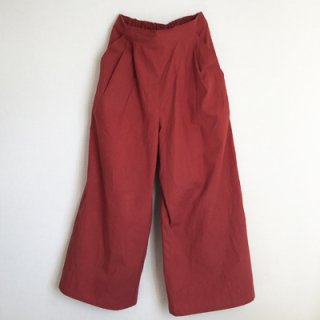 wide pants_ レッド