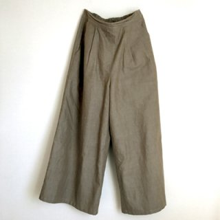 wide pants_ 渋茶