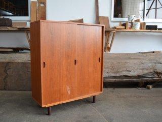 チーク キャビネット<br>teak cabinet  食器棚 引き戸