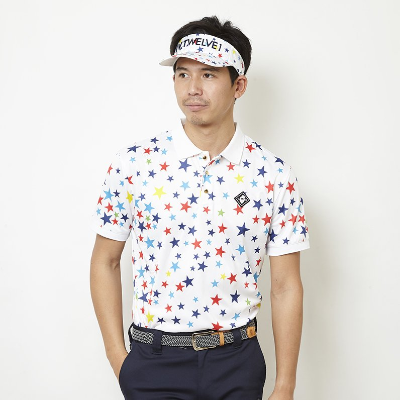 MULTI STAR POLO(WHITE)