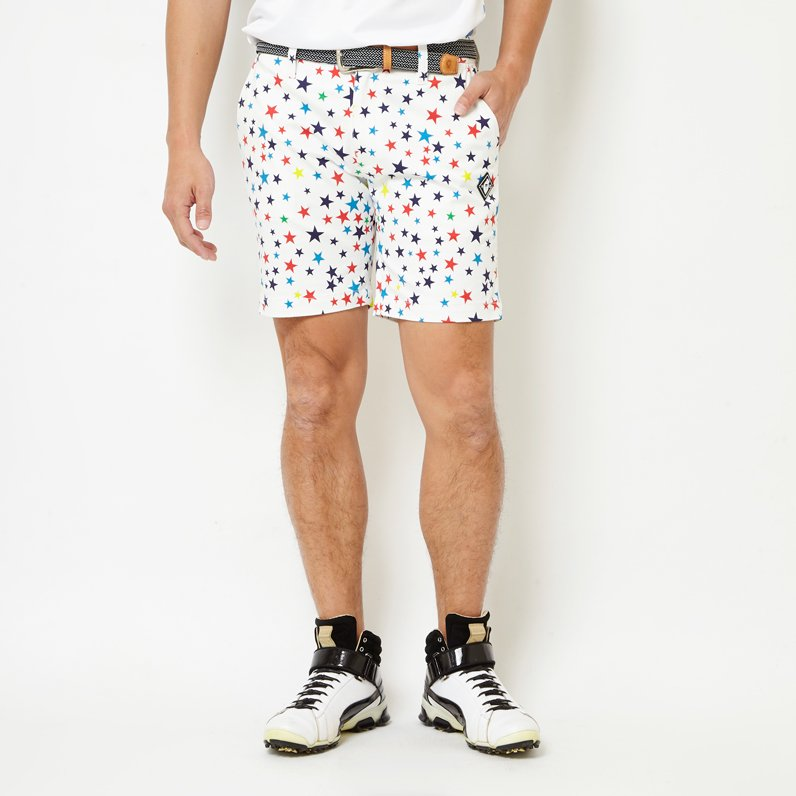 MULTI STAR SHORTS(WHITE)