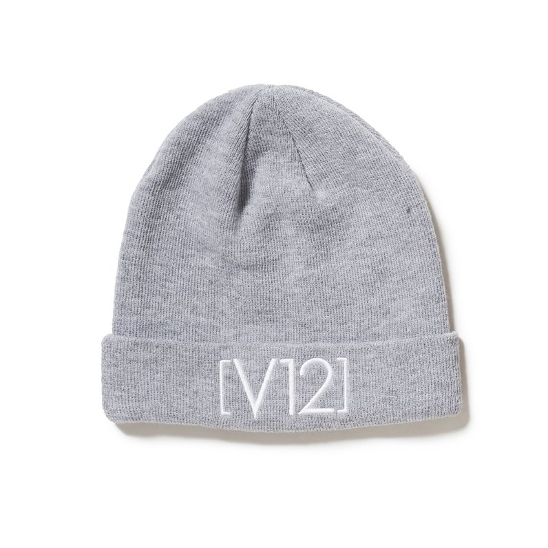 V12 KNIT CAP(GRAY)