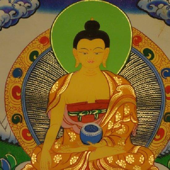 【仏画(タンカ)】釈迦如来  軸装 仏像 仏画【送料無料】