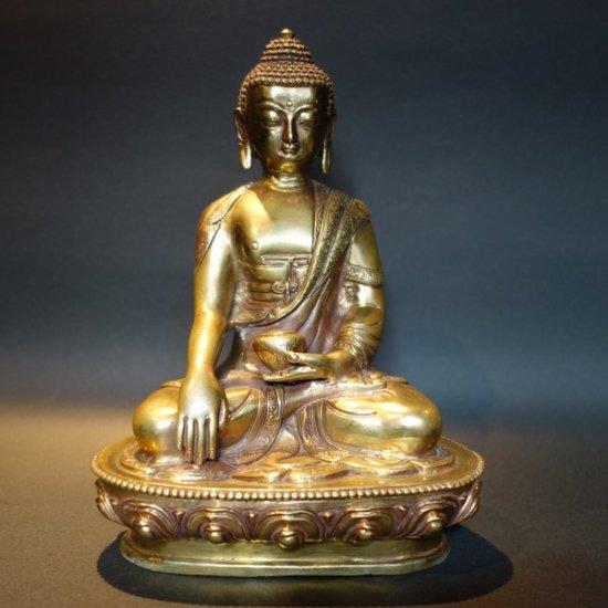 【仏像】釈迦如来 磨き仕上げ 20cm【送料無料】