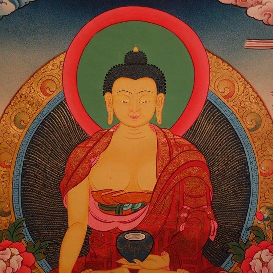 【仏画(タンカ)】釈迦如来 仏像 仏画 仏教美術【送料無料】