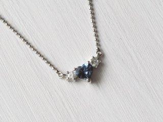 PT900 0.52ct 天然アレキサンドライト・ダイヤモンドネックレス