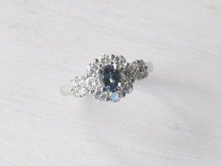 PT900 0.54ct アレキサンドライト・ダイヤモンドリング