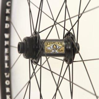 Wicked Wheel Works / 完組み Wheel Set for Disc Brake / 28H Front&Rear シクロクロス / チューブレスレディホイールセット