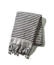 Pompom Towel Black Large
