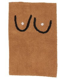 COLD PICNIC  Boob Bathmat-Brown