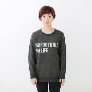 No Football No Life Knit - charcoal gray<img class='new_mark_img2' src='//img.shop-pro.jp/img/new/icons14.gif' style='border:none;display:inline;margin:0px;padding:0px;width:auto;' />