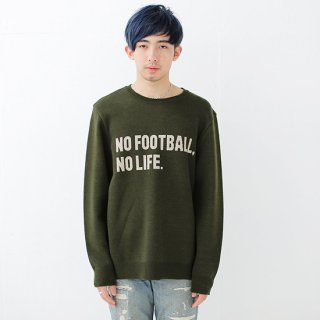 No Football No Life Knit - khaki<img class='new_mark_img2' src='//img.shop-pro.jp/img/new/icons14.gif' style='border:none;display:inline;margin:0px;padding:0px;width:auto;' />