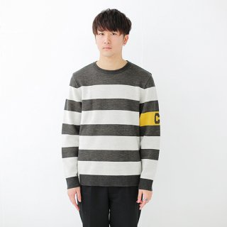 Captain Border Knit - bianco nero