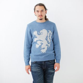 European Great Lion Knit - cerulean blue
