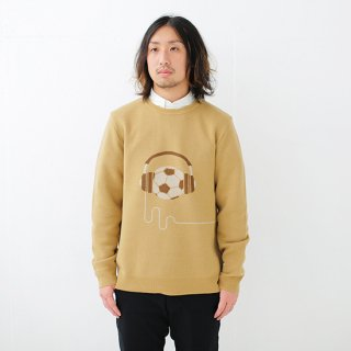 Music & Football Knit - camel