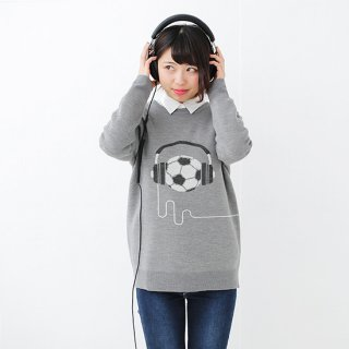 Music & Football Knit - calm gray<img class='new_mark_img2' src='//img.shop-pro.jp/img/new/icons14.gif' style='border:none;display:inline;margin:0px;padding:0px;width:auto;' />