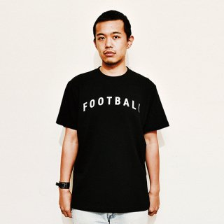 Football Typo. - black