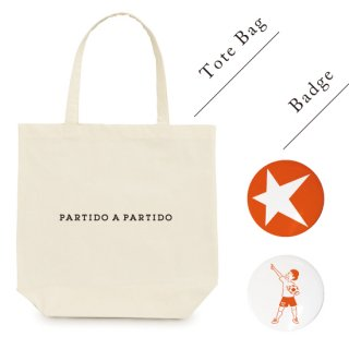 PARTIDO A PARTIDO TOTE + BADGE<img class='new_mark_img2' src='https://img.shop-pro.jp/img/new/icons14.gif' style='border:none;display:inline;margin:0px;padding:0px;width:auto;' />