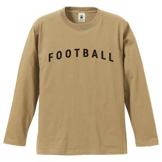Football Typo. Long Sleeve - sand<img class='new_mark_img2' src='https://img.shop-pro.jp/img/new/icons14.gif' style='border:none;display:inline;margin:0px;padding:0px;width:auto;' />