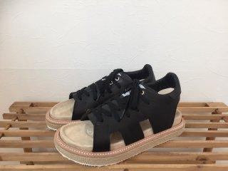 cut off sandal / black