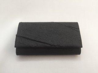 マチ付きカードケース/黒