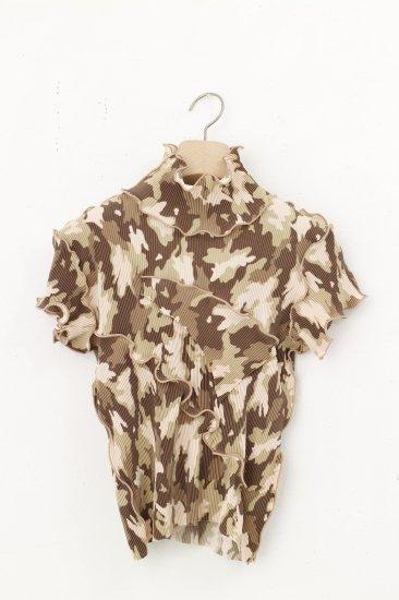 kotohayokozawa / pleats short sleeve / cam