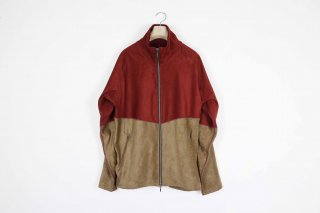 Suede Jarsey Suits /red× brown