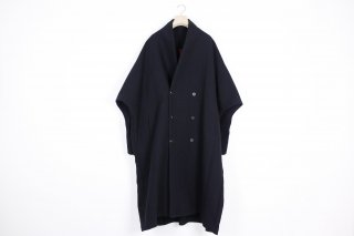 Cotton Linen Wool Dolman Coat