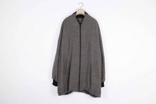 Double Face Wool Wide Blouson