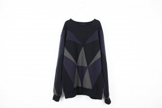 PRISM PATCHWORK SWEAT/black