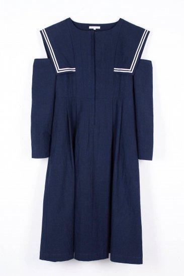 背守りワンピース / navy